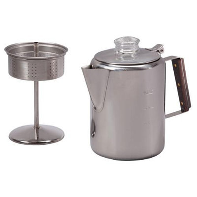TOPS MFG. CO 409 29 CUP STAINLESS STEEL PERCOLATOR
