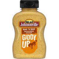 Johnsonville Brat 'n Beer Horseradish Mustard, 9.75 oz