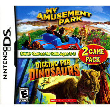 Scholastic My Amusement Park/Digging for Dinosaurs 2-Game Pack - Nintendo DS