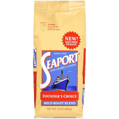 Seaport Founders Choice, 100% Arabica Mild Roast Blend Coffee, 13 oz