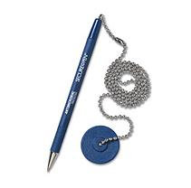 MMF Industries Secure-A-Pen Ballpoint Counter Pen with Base, Medium Point