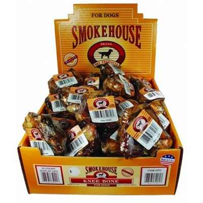 Smokehouse Treats Knee Bone Dog Chew: 25 Pack