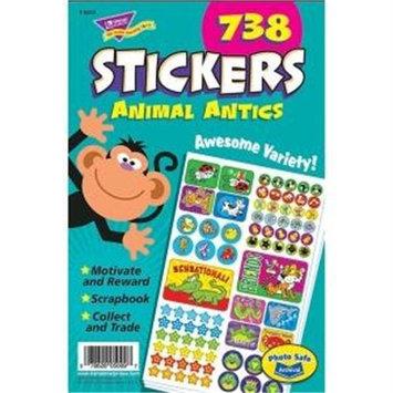 Trend Enterprises Stickers Animal Antics Sticker Pad, 738