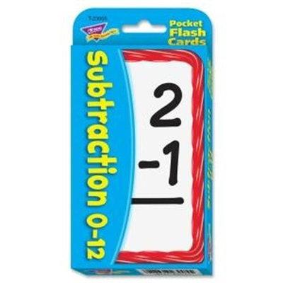 Trend Enterprises Inc Trend Enterprises Classroom Supplies Subtraction Pocket Flash Cards