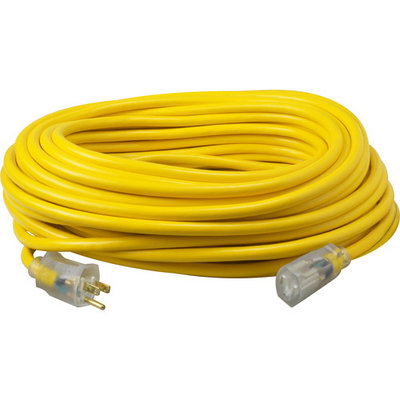 Coleman Cable 50' 12/3 Yellow Jacket Extension Cord