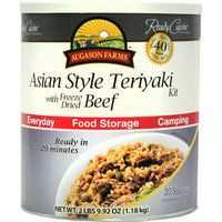 Augason Farms Emergency Food Asian Style Teriyaki with Freeze Dried Beef Meal Kit, 41.92 oz