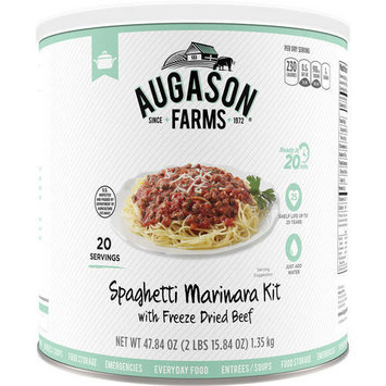 Crown Canyon Augason Farms Ready Cuisine Spaghetti Marinara with Freeze Dried Beef Kit, 47.84 oz