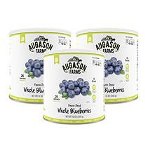 Augason Farms Emergency Food Freeze-Dried Whole Blueberries, 12 oz