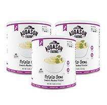 Augason Farms Emergency Food Potato Gems Complete Mashed Potatoes, 48 oz