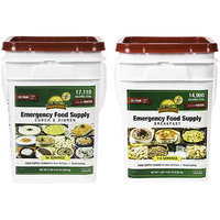 Augason Farms Emergency Food Supply Breakfast and Lunch & Dinner Pail Kit, 26 pc
