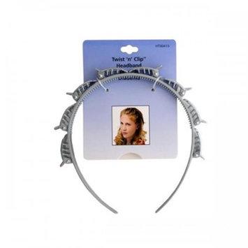 Bulk Buys Twist 'N' Clip Headband Pack Of 24