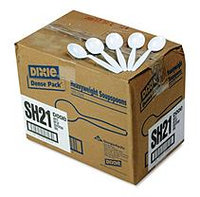 Dixie Foods Dixie Plastic Tableware Heavyweight Soup Spoons