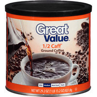 Great Value 1/2 Caff Ground Coffee, 29.2 oz