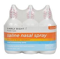 Simply Right Saline Nasal Spray - 3 / 3 oz.