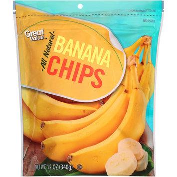 Great Value Banana Chips, 12 oz
