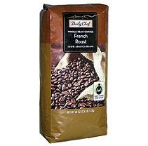 Daily Chef Coffee French Roast Fair Trade Certified Whole Bean Coffee- 40 oz.