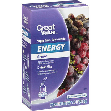 Great Value Grape Energy Drink Mix, 10ct