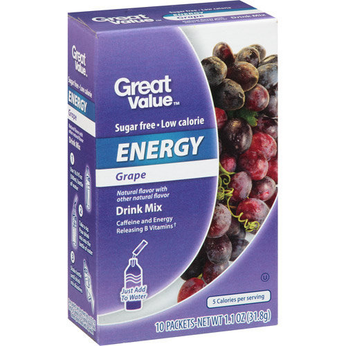 Great Value Energy Grape Drink Mix