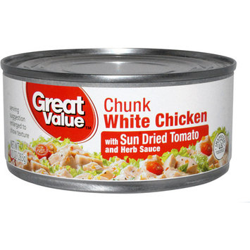 Great Value Chunk White Chicken with Sun Dried Tomato & Herb Sauce, 10 oz