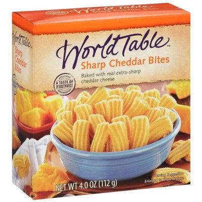 World Table Sharp Cheddar Bites, 4 oz