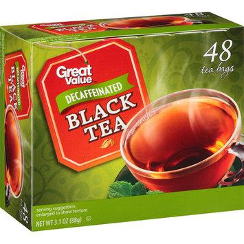 Great Value Decaffeinated Black Tea Bags, 48 count, 3.1 oz
