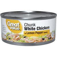 Great Value Chunk White Chicken in Lemon Pepper Sauce, 10 oz