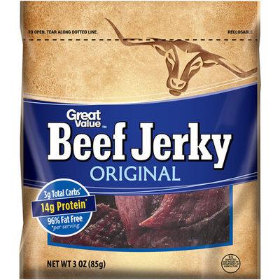 Great Value Original Beef Jerky, 3 oz