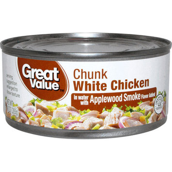 Great Value Chunk White Chicken in Water with Applewood Smoke Flavor, 10 oz