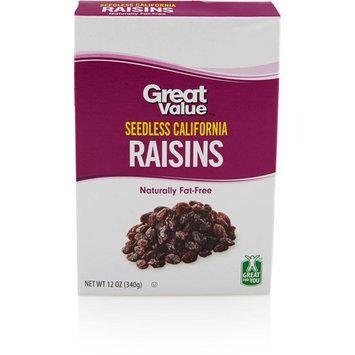 Great Value California Raisins, 12 oz
