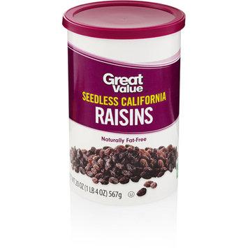 Great Value Raisins 100% Natural Snack