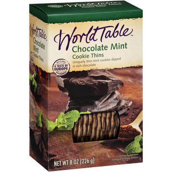 World Table Chocolate Mint Cookie Thins, 8 oz