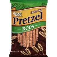 Great Value Low Fat Pretzel Rods, 12 oz