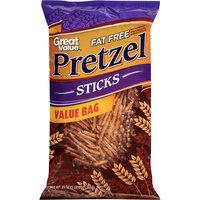 Great Value Fat Free Pretzel Sticks, 20 oz