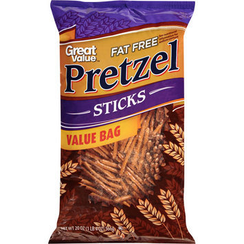Great Value Fat Free Pretzel Sticks, 20 oz