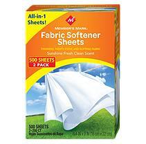 Member's Mark Fabric Softener Sheets - Sunshine Fresh Clean Scent - 500 ct.