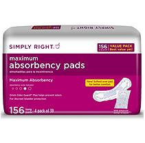 Simply Right Maximum Absorbency Pads, Long -156 ct. - Incontinence Aids