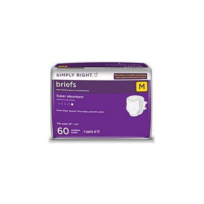 Simply Right Unisex Briefs - Medium - 60 ct.