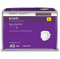 Simply Right Unisex Briefs - Large - 48 ct. - Incontinence Aids
