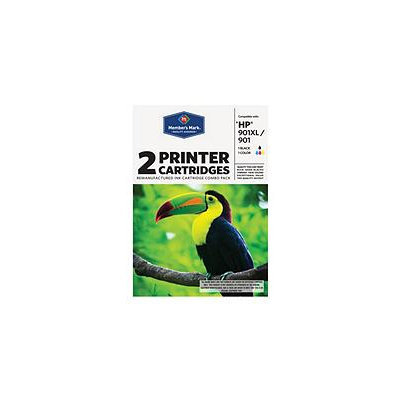 Member's Mark Remanufactured HP 901XL/901 Combo Pack - 2 Cartridges