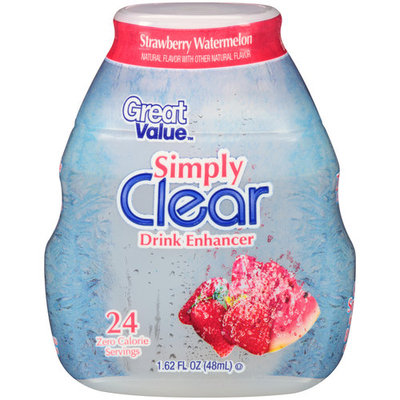 Great Value Simply Clear Strawberry Watermelon Liquid Drink Enhancer, 1.62 fl oz