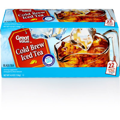 Great Value Cold Brew Iced Tea Family Size Tea Bags, 22 count, 4.8 oz