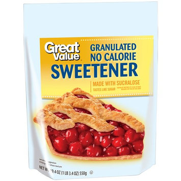 Great Value Granulated No Calorie Sweetener, 19.4 oz