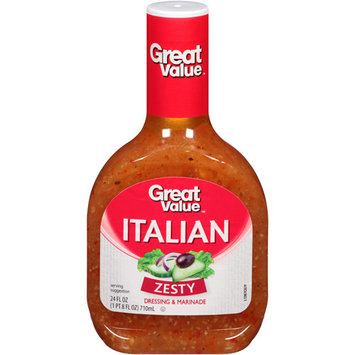 Great Value Zesty Italian Dressing & Marinade, 24 fl oz