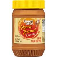 Great Value Honey Roasted Creamy Peanut Butter, 16 oz