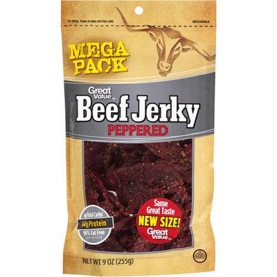 Great Value Peppered Beef Jerky Mega Pack, 9 oz