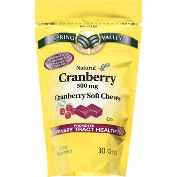 Spring Valley Natural Cranberry 500mg Dietary Supplement, 30ct