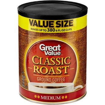 Great Value Classic Roast Medium Ground Coffee, 48 oz