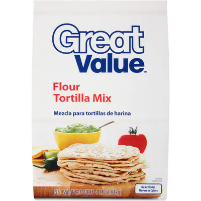 Great Value: Flour Tortilla Mix, 4 Lb