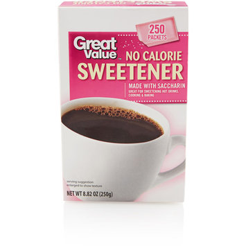 Great Value No Calorie Sweetener Packets, 250ct