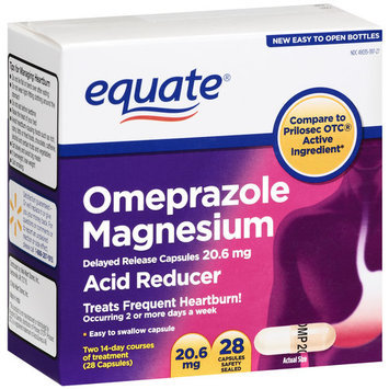 Equate Omeprazole Magnesium Capsules 20.6mg, 28ct